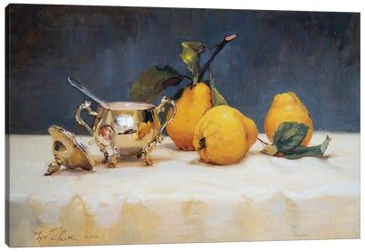 Still Life With Silver Sugar Bowl Canvas Art Print