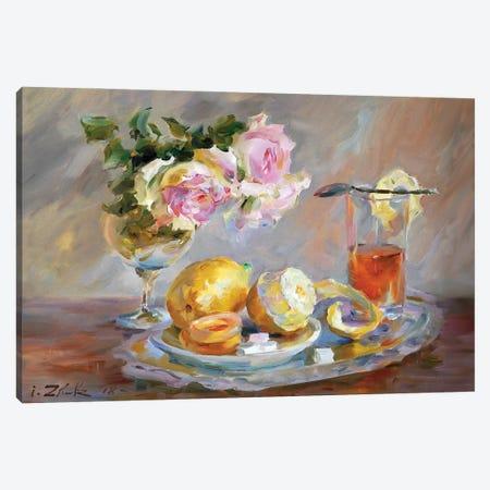 Tea With Lemon Canvas Print #IZH46} by Igor Zhuk Canvas Artwork