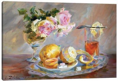 Tea With Lemon Canvas Art Print
