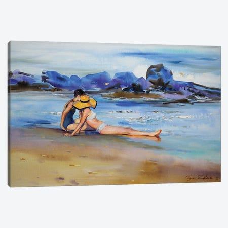 The Summer Hat Canvas Print #IZH52} by Igor Zhuk Canvas Art