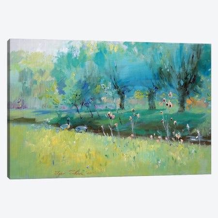 Wild Geese Canvas Print #IZH59} by Igor Zhuk Canvas Artwork