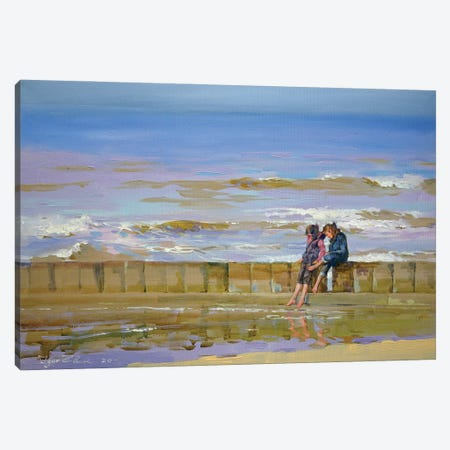 Windy Beach Canvas Print #IZH60} by Igor Zhuk Canvas Art Print