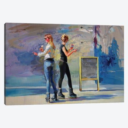 An Ice On Skates Canvas Print #IZH74} by Igor Zhuk Canvas Print
