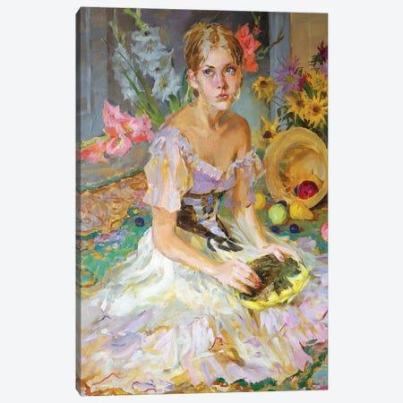 Sunflower Canvas Print #IZH83} by Igor Zhuk Canvas Print