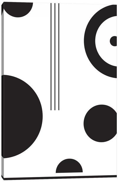 Laslo IV In Black & White Canvas Art Print