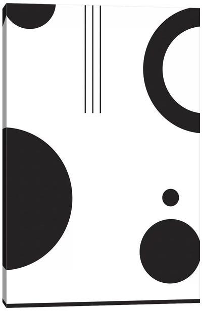 Laslo VI In Black & White Canvas Art Print