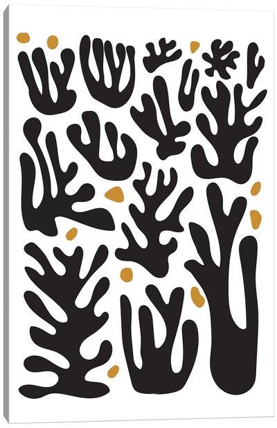 Coral Black Canvas Art Print