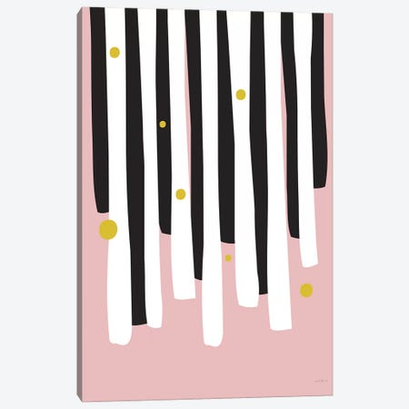 Piano Keys Canvas Print #IZP39} by Izabela Pichotka Canvas Wall Art