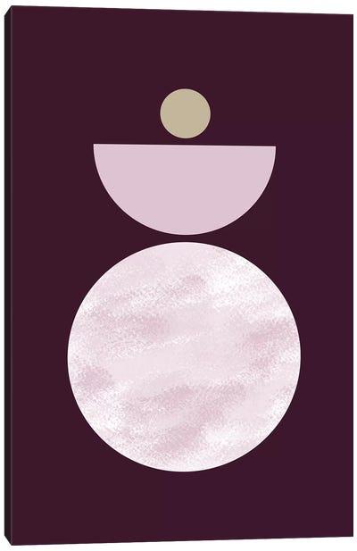 Zen In Mauve I Canvas Art Print