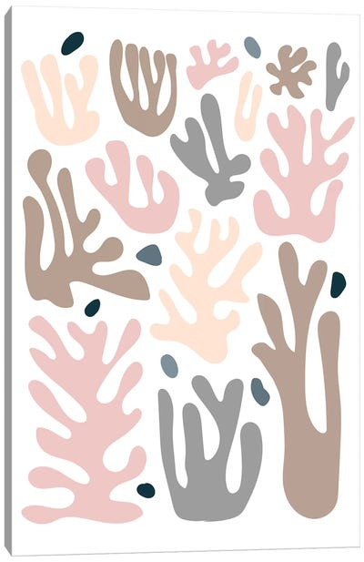 Coral In Pastel Canvas Art Print