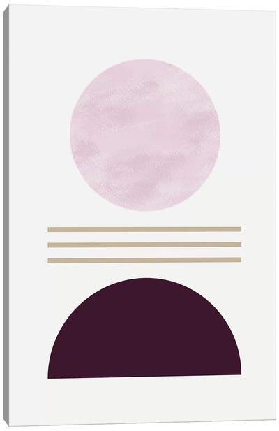 Zen In Mauve III Canvas Art Print