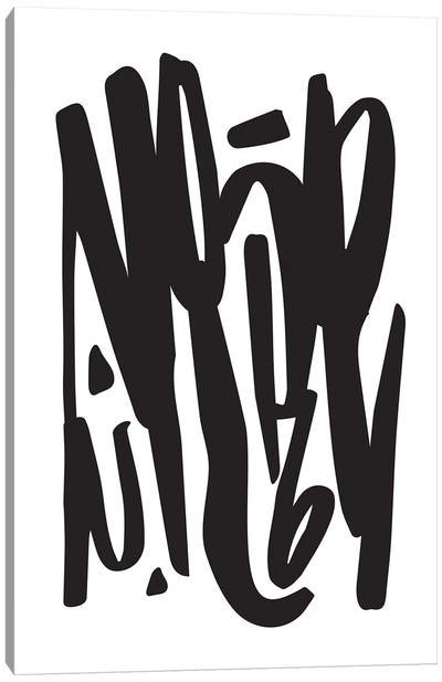 Nope Typography Canvas Art Print