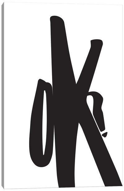 Large K Canvas Art Print