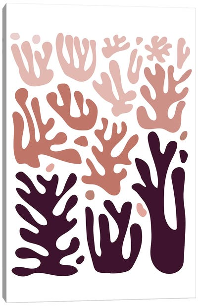 Coral Ombre Canvas Art Print