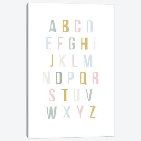 Alphabet Canvas Print #IZP61} by Izabela Pichotka Art Print