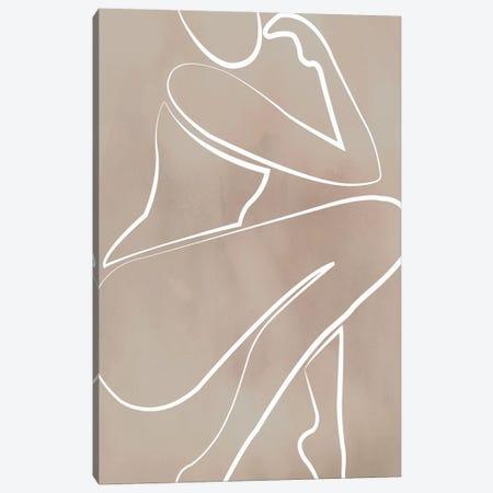 Female Thinker Beige Canvas Print #IZP66} by Izabela Pichotka Canvas Art