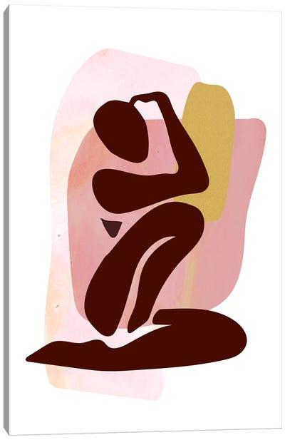 Figure Seated Canvas Art Print