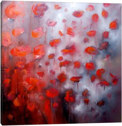Petals In The Wind II Canvas Print #JAB19