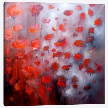 Petals In The Wind II Canvas Print #JAB19} by J.A Art Canvas Artwork