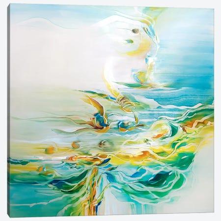 Ripple Effect Canvas Print #JAB20} by J.A Art Canvas Art Print