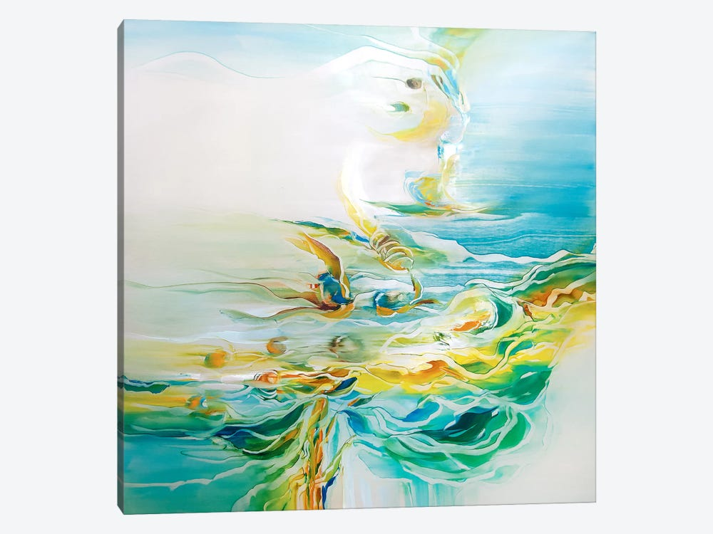 Ripple Effect by J.A Art 1-piece Canvas Artwork