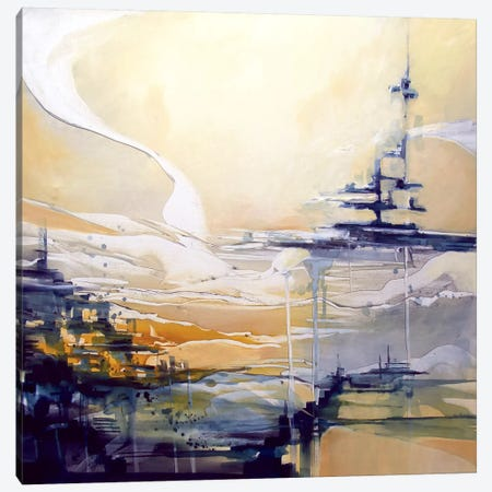 Sail Ship Canvas Print #JAB21} by J.A Art Art Print