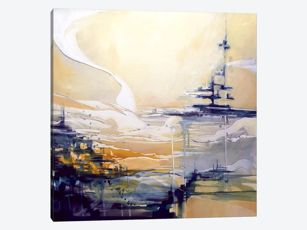 Sail Ship by J.A Art 1-piece Canvas Print