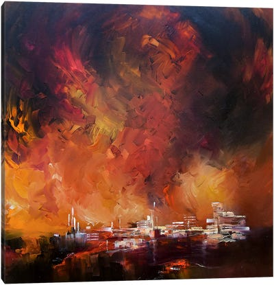 Sun Red Skies Canvas Art Print
