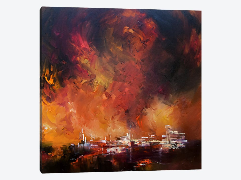 Sun Red Skies by J.A Art 1-piece Canvas Wall Art