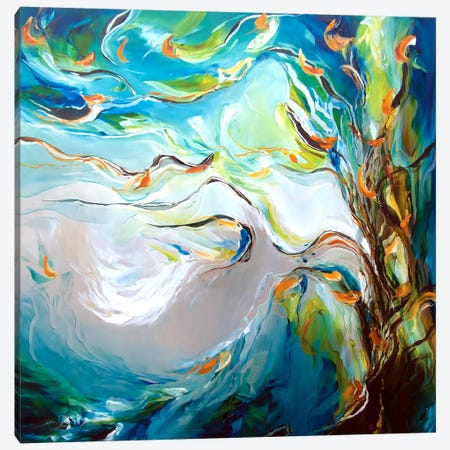 Breeze Canvas Print #JAB2} by J.A Art Canvas Artwork