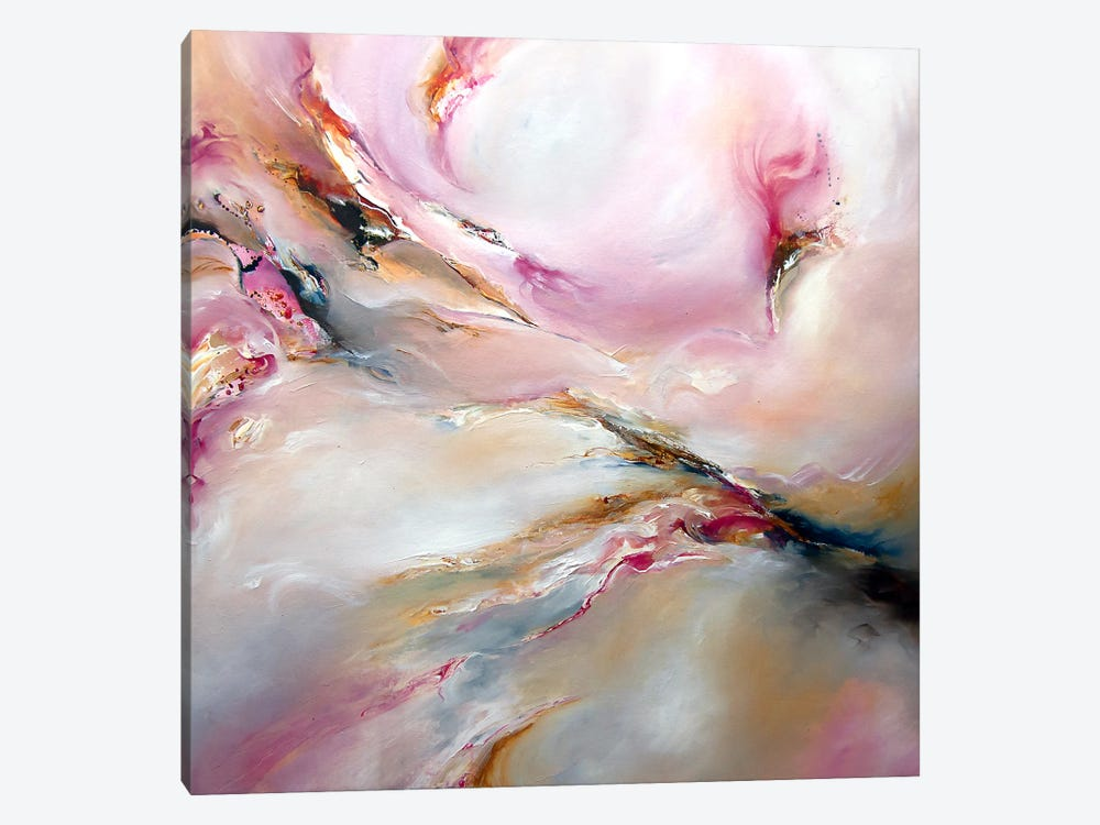 Pink Haze by J.A Art 1-piece Canvas Print