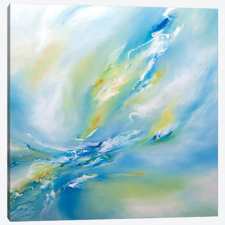 Blue Flush Canvas Print #JAB3} by J.A Art Canvas Wall Art