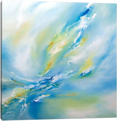Blue Flush Canvas Art Print
