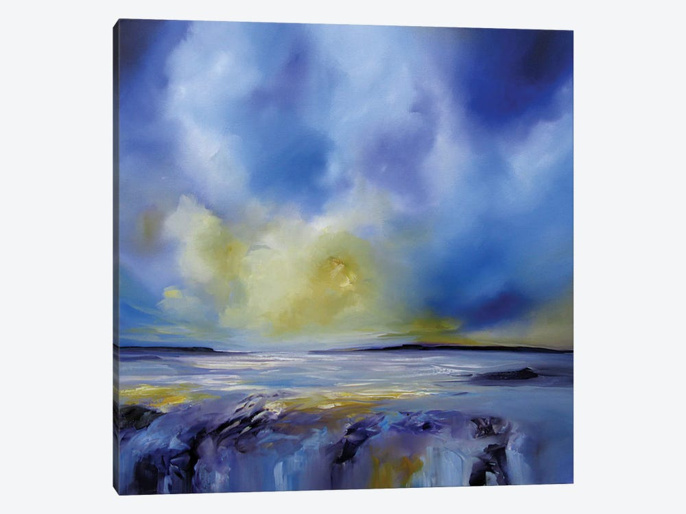 Blue Symphony I by J.A Art 1-piece Canvas Art