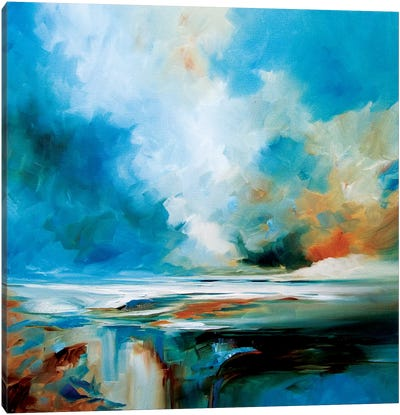 Aqua Haze Canvas Art Print