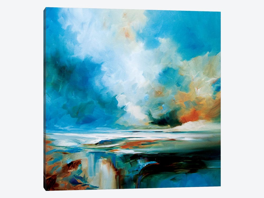 Aqua Haze by J.A Art 1-piece Canvas Art Print
