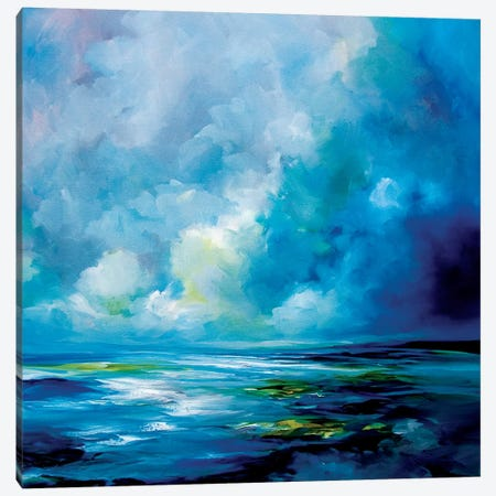 Blue Velvet Canvas Print #JAB46} by J.A Art Canvas Wall Art
