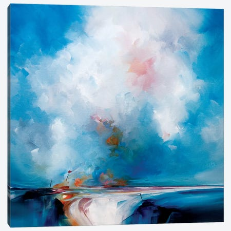 Glow In The Blue Canvas Print #JAB50} by J.A Art Canvas Wall Art