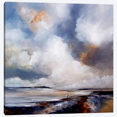 Grey Days Canvas Print #JAB51} by J.A Art Canvas Artwork