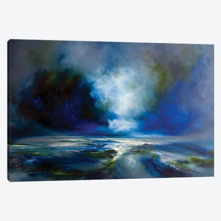 Blue Meaning Canvas Print #JAB54} by J.A Art Canvas Art Print