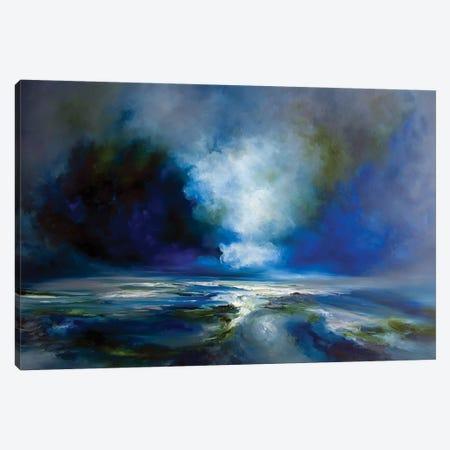 Blue Meaning Canvas Print #JAB54} by J.A Art Canvas Art Print