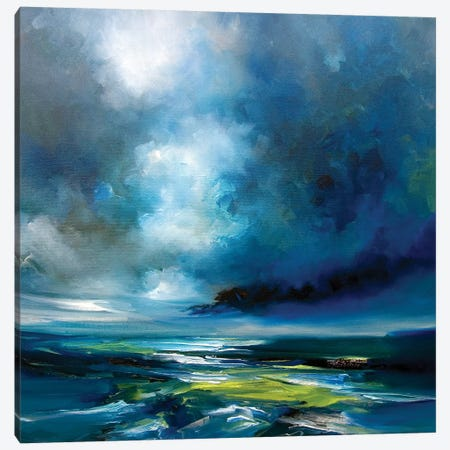 Blue Storm Canvas Print #JAB55} by J.A Art Art Print