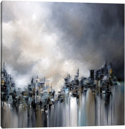 Smoke City Canvas Art Print