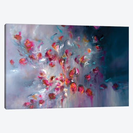 Swept Away In Petals Canvas Print #JAB83} by J.A Art Canvas Art Print