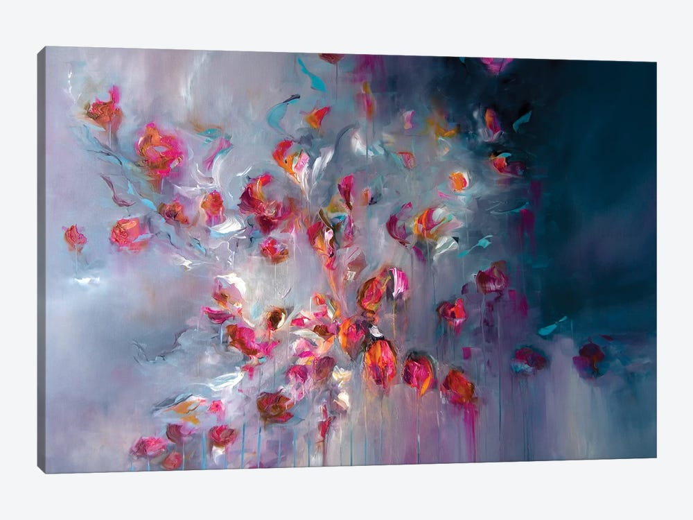 Swept Away In Petals by J.A Art 1-piece Canvas Print