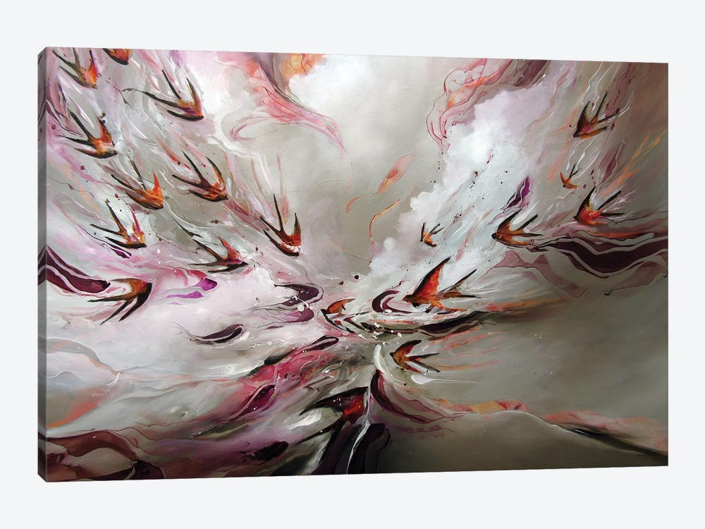 Together Flight by J.A Art 1-piece Canvas Print