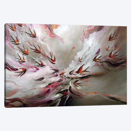 Together Flight Canvas Print #JAB85} by J.A Art Canvas Art