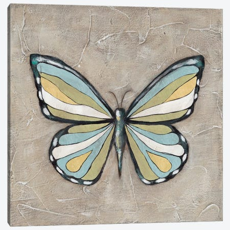 Graphic Spring Butterfly II Canvas Print #JAD113} by Jade Reynolds Canvas Wall Art