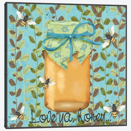 Bees & Honey II Canvas Print #JAD123} by Jade Reynolds Art Print