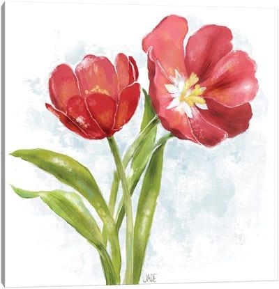 Red Tulip Splash I Canvas Art Print